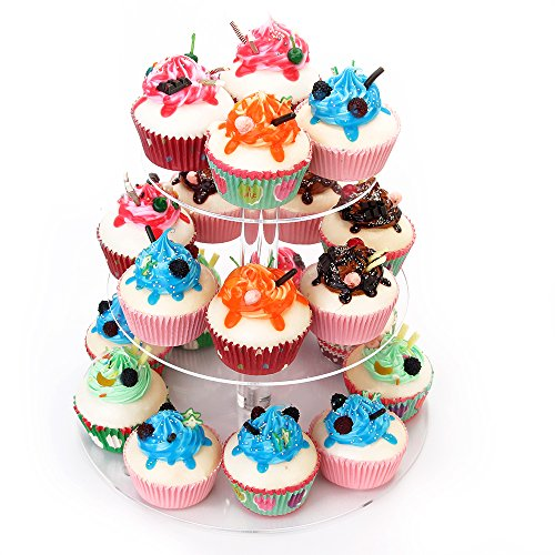 weddingwish 3 Tier Round Acrylic Cupcake Stan(New) … … by weddingwish (Image #8)