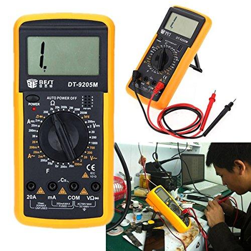 ELEGIANT Digital LCD Multimeter Transistor Meter Messgerät Voltmeter Amperemeter 20A 400V Volt AMP OHM-Kontrolleur-Prüfvorrichtung AC DC