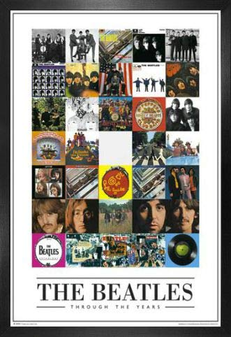 1art1 The Beatles Poster and Frame (MDF) - Through The Years (36 x 24 inches) from 1art1