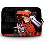 Anime Laptop Sleeve with Trigun(3) Patterns Waterproof Canvas Fabric 15 15.6 Inch Laptop Bag Case Cover(Twin Sides)
