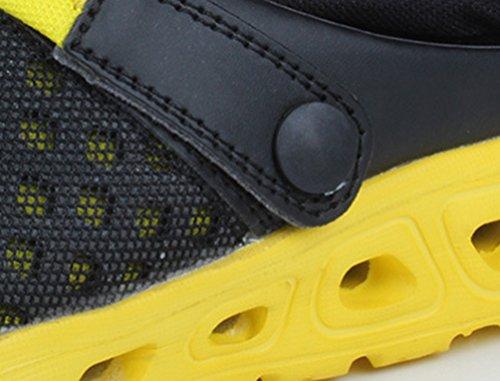 YOUJIA Unisex Atmungsaktiv Leicht Mesh Pantoffeln Clogs Sommer Garten Strand Schuhe Sandalen #3 Gelb