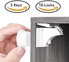 Baby Proofing Magnetic Cabinet Locks BALFER Child Safety No Drilling Lock for Drawer Cupboard Closet …