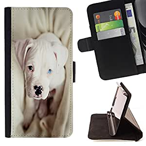 - Bulldog Bull Dog Pet Puppy - - Style PU Leather Case Wallet Flip Stand Flap Closure Cover FOR HTC One M8 - Devil Case -