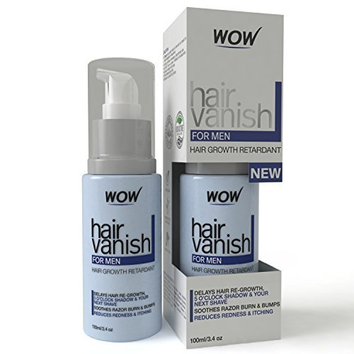 WOW Hair Vanish For Men - All Natural Hair Removal Cream, Lotion Moisturizes Skin & Reduces Growth, Hair Thickness & Appearance