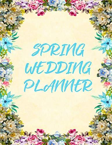 Spring Wedding Planner: Large Wedding Notebook Organizer for