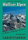 Walliser Alpen: Gebietsführer für Wanderer, Bergsteiger und Kletterer