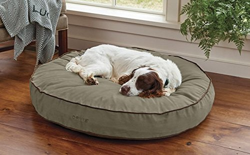 - Orvis Comfortfill Round Dog's Nest/X-Large Dog Bed - Dogs 70-100 Lbs, Aloe