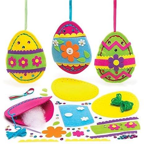 Baker Ross Kits De Costura De Huevos De Pascua Para Colgar