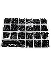 Basage 1060Pcs M2 M3 M4 M5 Hex Socket Screw Set Carbon Steel Flat Round Cap Head Screws Bolts and Nuts Assortment Kit