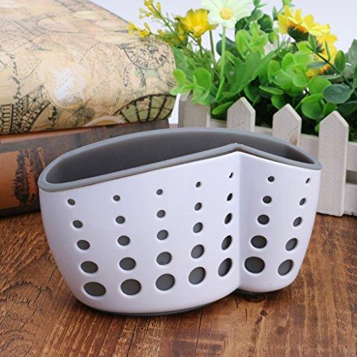 Tebatu Sink Caddy Double Layer Sponge Holders For Bathroom Kitchen Organization Baskets by Tebatu (Image #1)