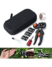 Grafting Tool Kit, Professional Garden Pruning Shears Grafting Cutting For Plant Branch Twig Vine Fruit Tree Grafting Cutting Scissors Shear With 3 Replaceable Blades, Graft Tape, Screwdriver & Wrench (Storage Bag Included)