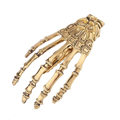 Botrong Fashion Paw Skeleton Ghost Hand Party Hair Clips Hairpin (Gold) (Gold Charm Theme 14k Bracelet)