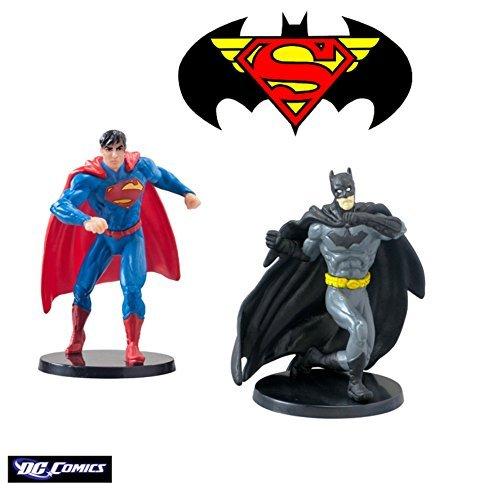 Warner Bros Dc Comics Superman and Batman Figurines