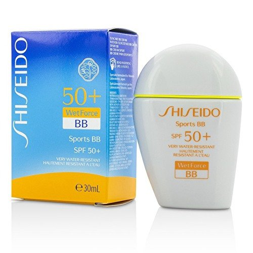 Shiseido Sports BB cream Broad Spectrum SPF 50+ WetForce Sunscreen/1 Fl. Oz. Light