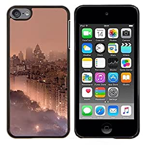 Planetar® ( Park City Ver Niebla Niebla ) Apple iPod Touch 6 6th Touch6 Fundas Cover Cubre Hard Case Cover