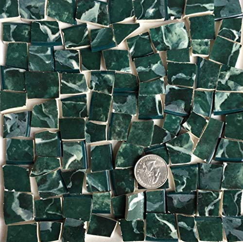 Mosaic Art & Craft Supply ~ Green Marble Pattern China Tiles (B074) ()