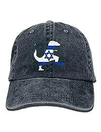 Jiuyuan Israel Dinosaur T-rex Low Profile Plain Baseball Cap Vintage Washed Dad Hat