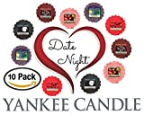Yankee Candle Date Night Wax Tarts - Midsummer's Night + Fresh Cut Roses + Vineyard + Chocolate Truffle + Sweet Strawberry -- Set of 10 Yankee Candle Romantic Wax Melts