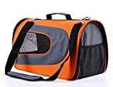 #7: Dog Carrier Soft Sided Pet Travel Carriers Portable Bags for Dogs, Cats and Small Pets, Airline-Approved, Orange