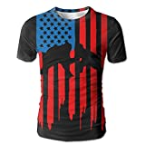 Wrestling American Flag New Style Men's Casual Short Sleeve T-Shirts XL