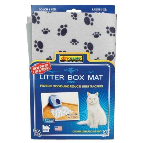 Drymate Scented Litter Box Mat for Pets, Grey by Drymate