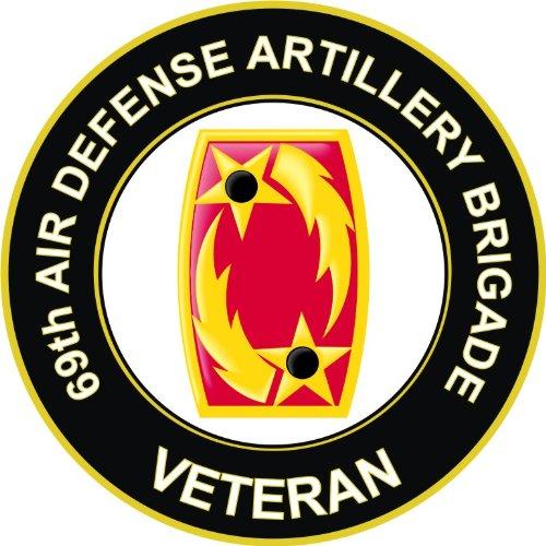 US Army Veteran 69th Air Defense Artillery Brigade Decal Sticker 3.8