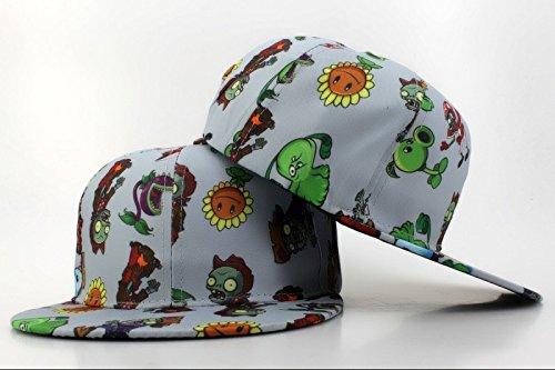 43d13ff3d74 Image Unavailable. Image not available for. Colour  Plants Vs Zombies  Zombie Big Face Women s Sparkle Practical Team Color Kids Snapback Cap Hat