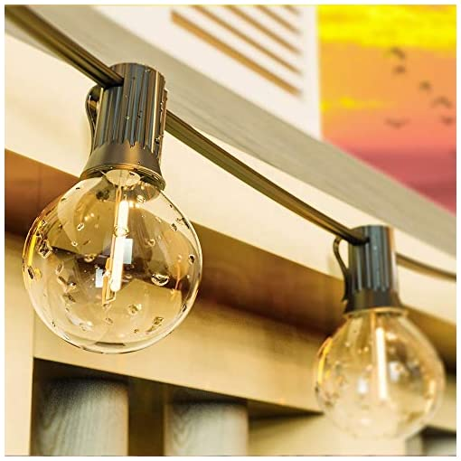 Garden and Outdoor Abeja Outdoor LED String Lights with 27 G40 Shatterproof LED 0.6W Bulbs Energy-Saving Lights, UL Listed for Patio Porch… outdoor lighting