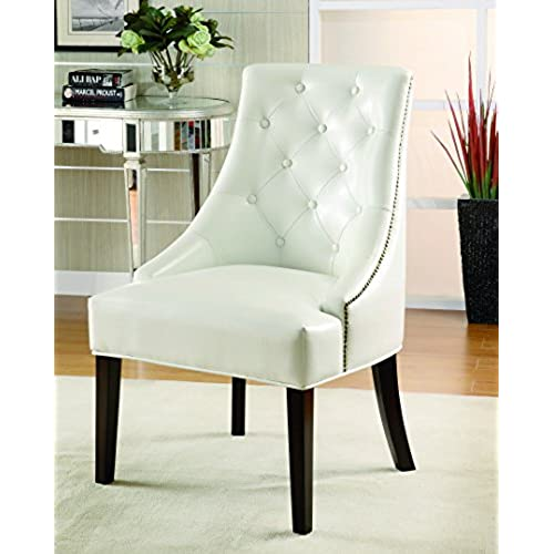 small chairs for bedroom. Coaster Leather Like Lounge Chair in White Finish Small Bedroom Chairs  Amazon com