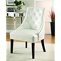 Coaster Home Furnishings Tufted Back Accent Chair White and Black