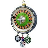 BestPysanky 5.75'' Roulette Casino Poker Chip Glass Christmas Ornament