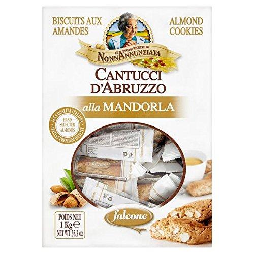 1kg NonnAnnunziata Cantuccini dAbruzzo Galletas de almendra (paquete de 125 x ...