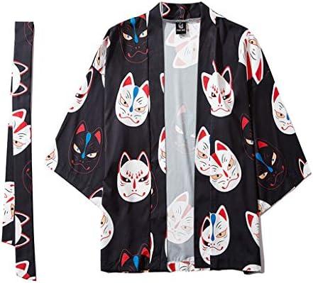 Cárdigan - Chaqueta de Manga Larga de Tres Cuartos, para Hombre y Mujer - Routinfly - Camisa de Manga Larga de Kimono con Capa de Kimono japonés de Cinco Puntas: Amazon.es: Electrónica
