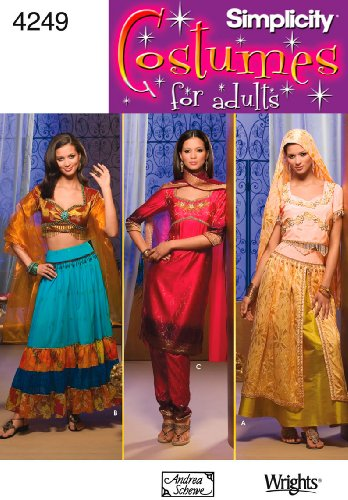 Simplicity Sewing Pattern 4249 Misses Costumes, RR (Sari Halloween Costumes)