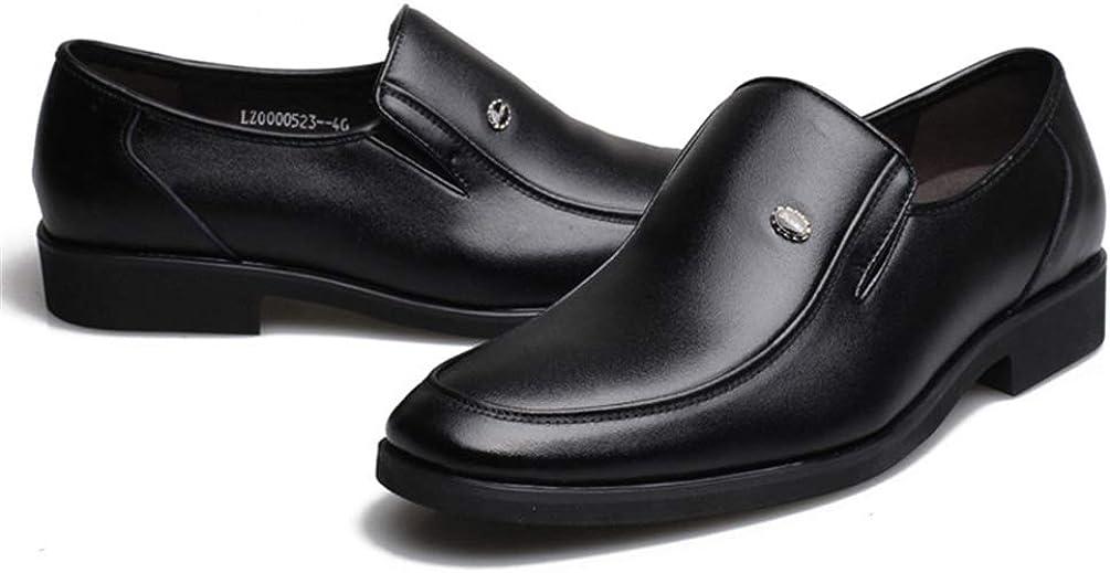 XIGUAFR Homme Chaussure de Travail en Cuir daffaire Commercial a Enfiler Basse Souple Chaussure de Marche de Ville au Loisir Classique Confortable