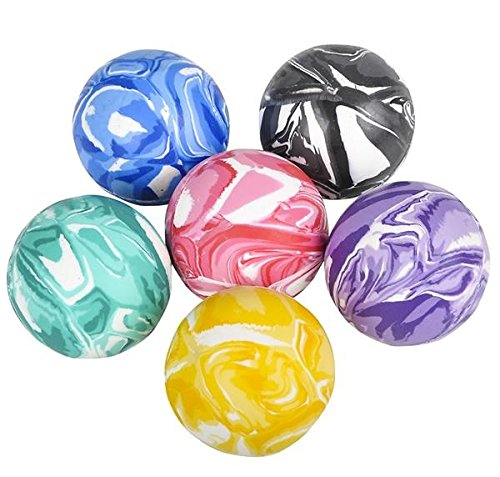 High Bouncing Marble Balls - 12 Pack Assorted 2 Tone Colors - Premium Designs – Great Toy, Party Favor, Prize, Gift – By Kidsco