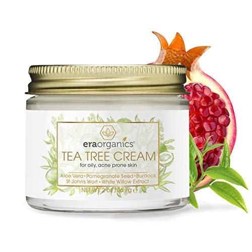 Era Organics Tea Tree Oil Face Cream - For Oily, Acne Prone Skin, Extra Soothing & Nourishing Non-Greasy Botanical… 1
