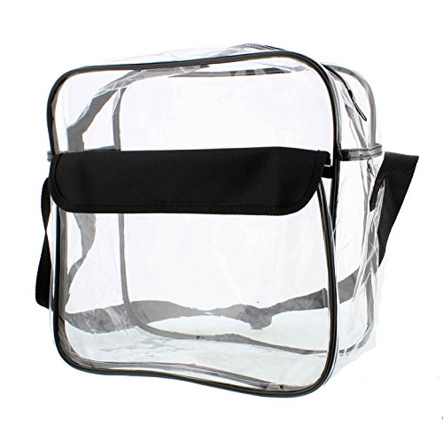 Redneck Convent Clear Purse, Large 12in x 12in x 6in, NFL Stadium Approved Bag with Zipper & Comfortable Shoulder Strap