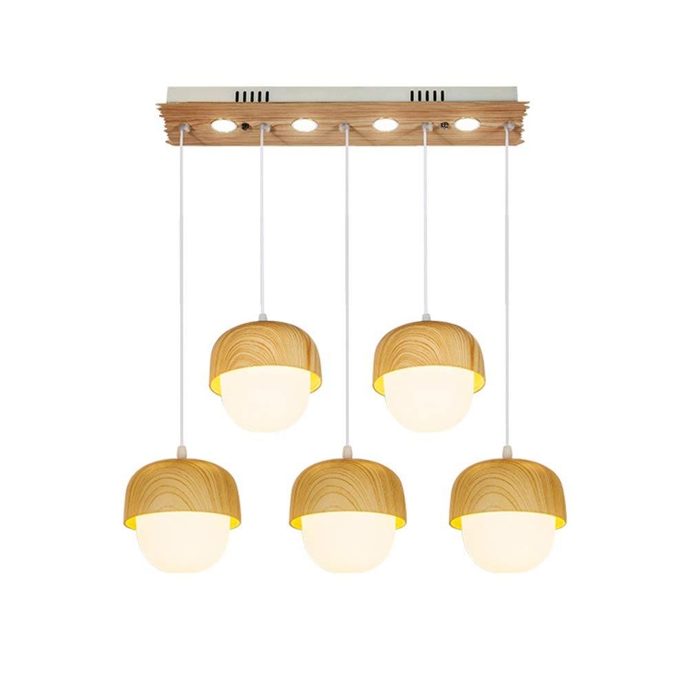 H.Q 5ライトペンダントライトシンプルなレストランシャンデリアled錬鉄天井照明家の装飾吊りランプ器具   B07TXHGHBW