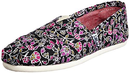 TOMS Women's Classics Floral Black Casual Shoe 6 Women US]()