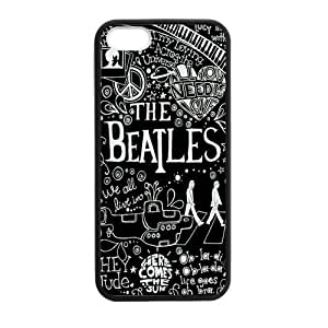 Fashion The Beatles Protective Hard Durable Rubber Coated Case Cover for iPhone 5 / iPhone 5S by mcsharks