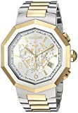 Roberto Cavalli by Franck Muller Men's Swiss-Quartz Watch with Stainless-Steel Strap, Two Tone, 20.5 (Model: RV1G003M0096)