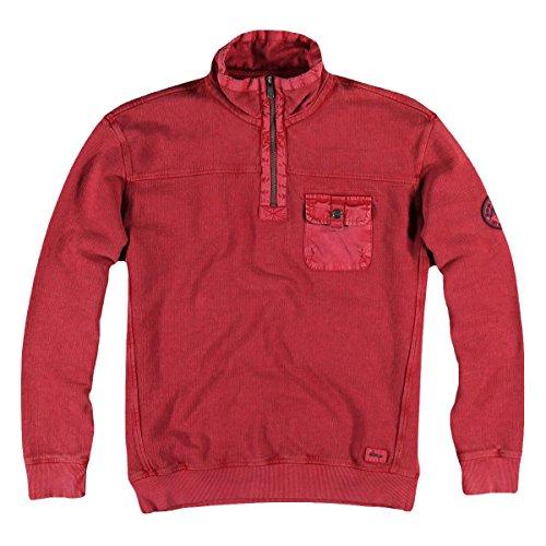 engbers Herren Sweatshirt Stehbund, 25144, Rot