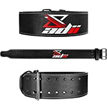 "ADii Genuine Leather Power lifting Belt 4"" Wide 