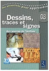 Dessins, traces et signes : Aux sources de l'écriture, grande section (1DVD)