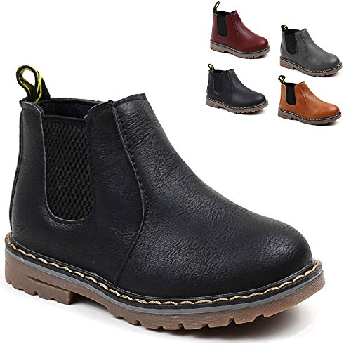 Save Beautiful Baby Kids Boots Girl Boy Shoes Rain Hiking Winter Snow Boots (9.5 M US Toddler, Black) -