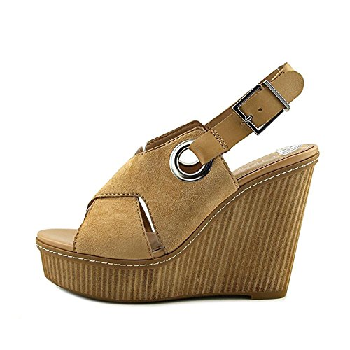 BCBGeneration Womens Penelope Leather Open Toe Casual, Sand/Sand, Size 7.5