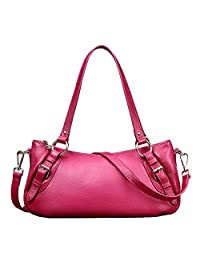 SAIERLONG Women's European And American Style First Layer Of Leather Top-handle Tote Shoulder Messenger Bag Cross Body Purse Vintage Handbag