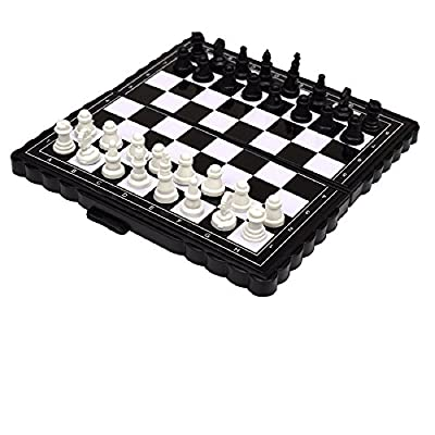 Mini Travel Strong Magnetic Chess Set with Portable Folding Storage Board Game for Kids