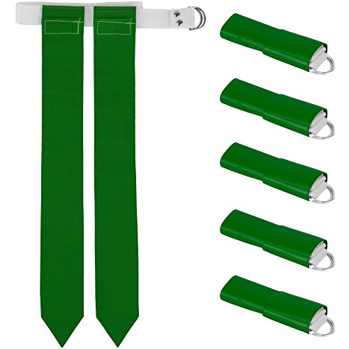 (6-Pack Flag Football Team Set – Includes 6 Belts with 12 Flags, Accessories for Flag & Touch Games, Practices, & Training by Crown Sporting Goods (6,)